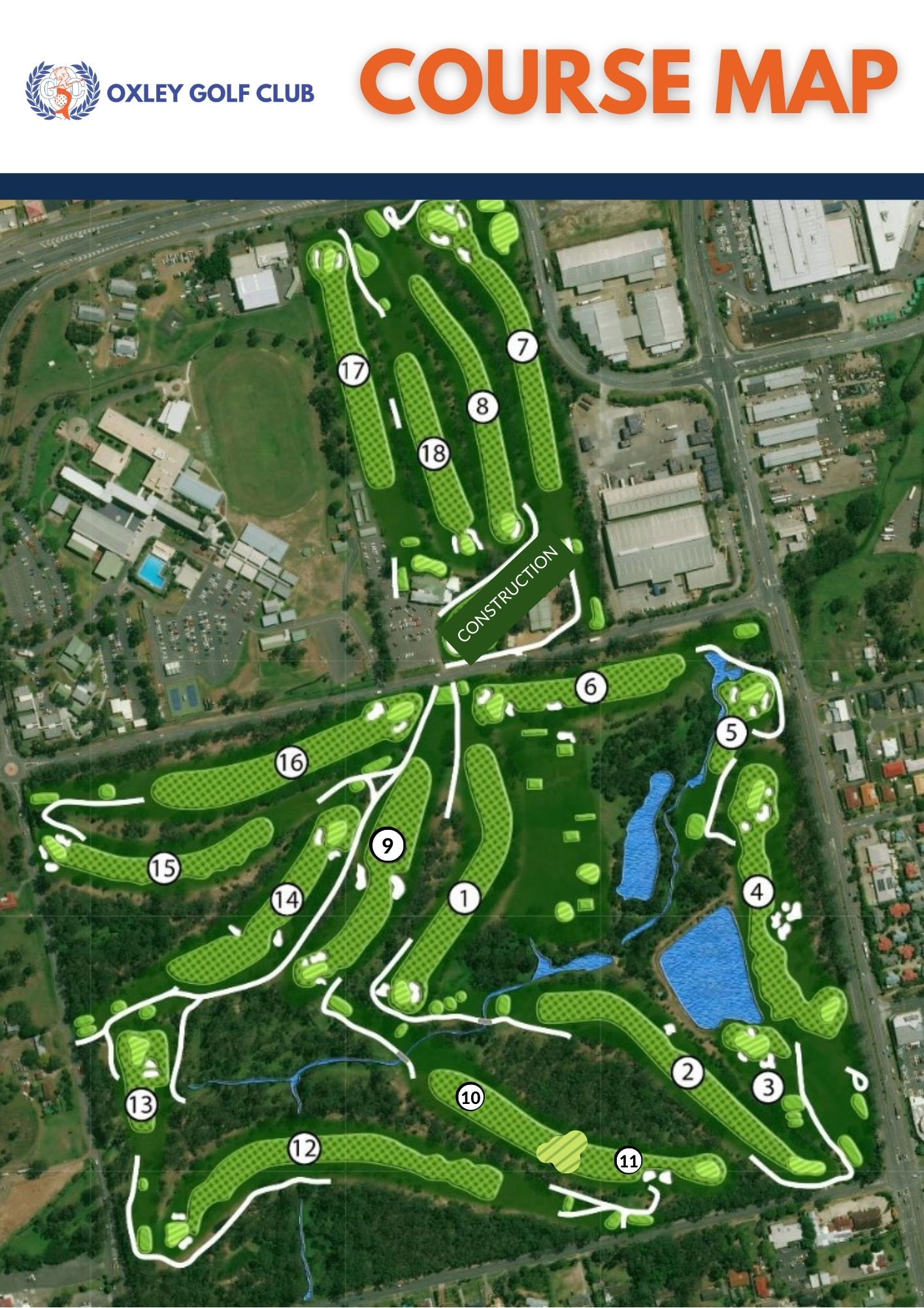 Course Map During Construction 2021